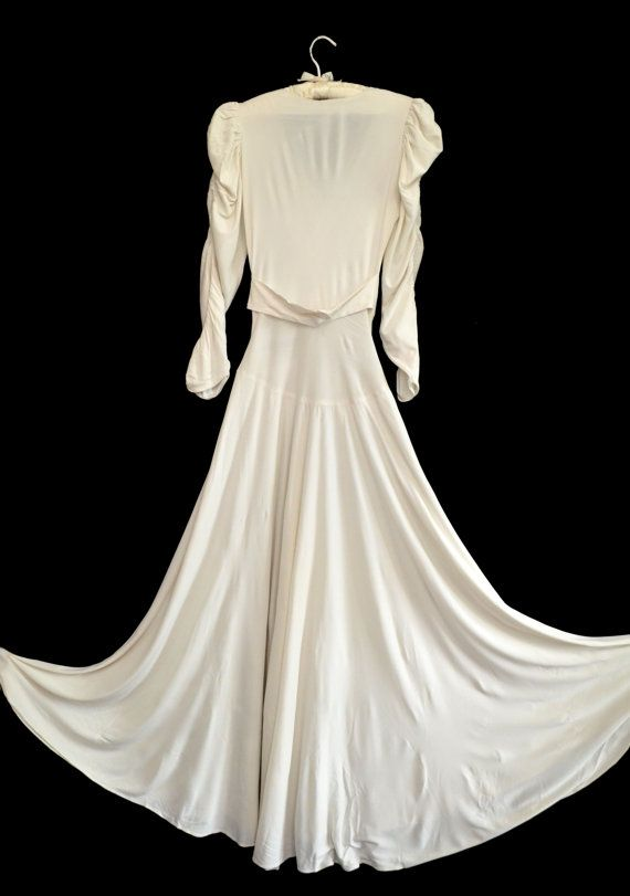 Vintage 30s Wedding Dress // 1930s Wedding Gown by VintageDevotion ...