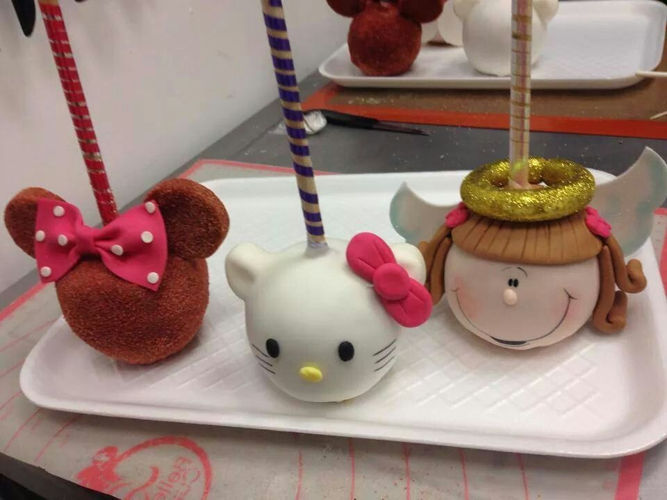 Hello Kitty Candy Apples Ideas Candy Apples Caramel