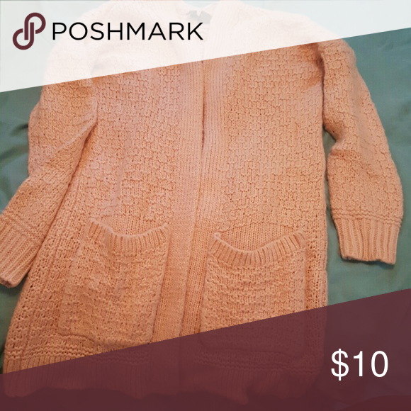 Light pink sweater Chunky knit long sleeve light pink Ultra Flirt Sweaters Cardigans