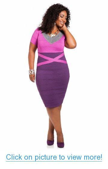 Ashley Stewart Women's Plus Size Tri-Tone Bodycon Sweater Dress #Ashley #Stewart #Womens #Plus #Size #Tri_Tone #Bodycon #Sweater #Dress