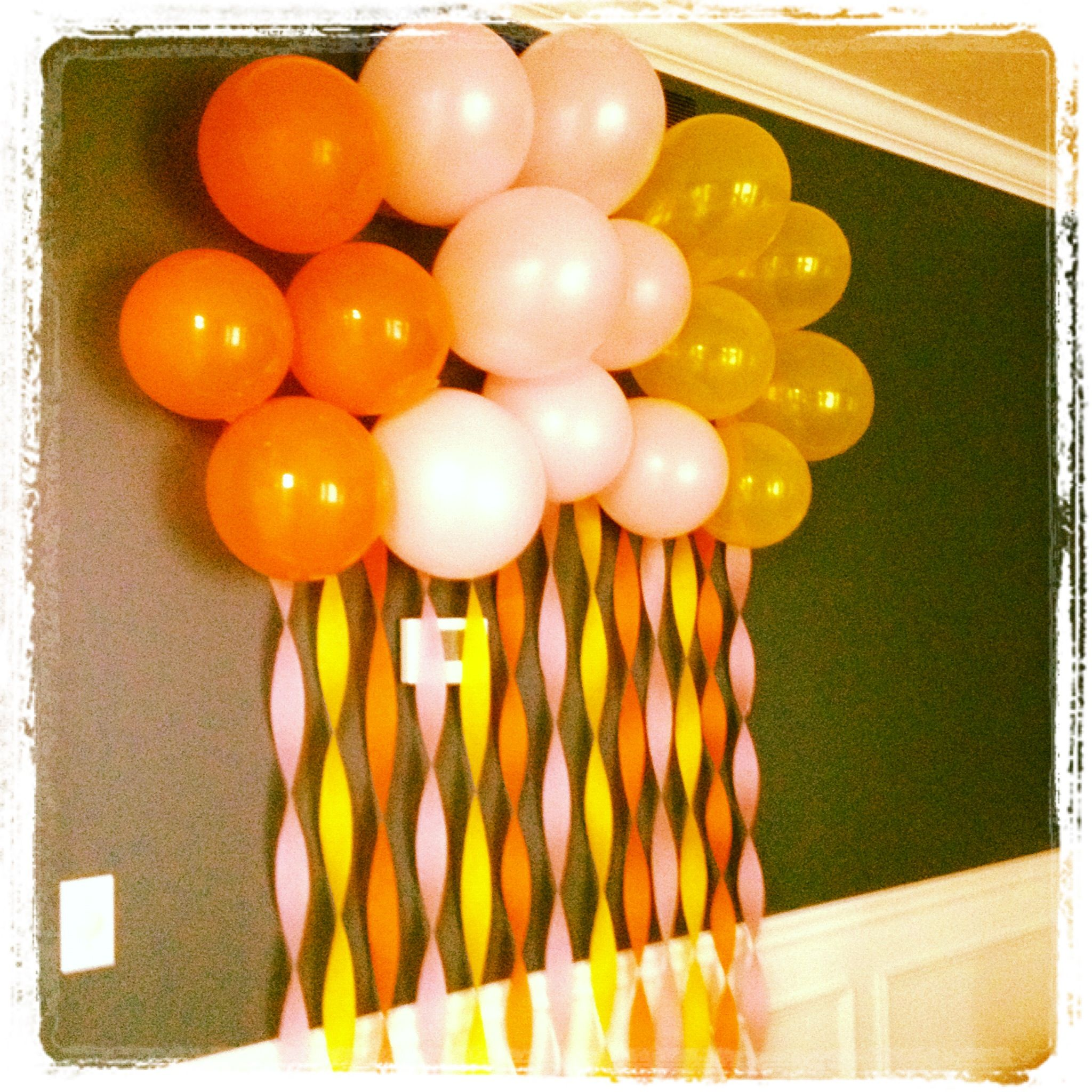 Ready to Pop Baby Shower Balloon and streamer wall do in Red