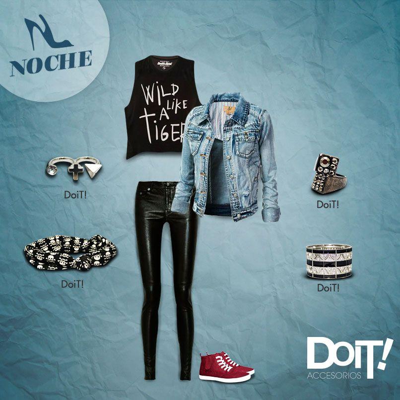 b7c977113ad3 Outfit rockero para salir a bailar! #DoiT #Accesorios | Outfits ...