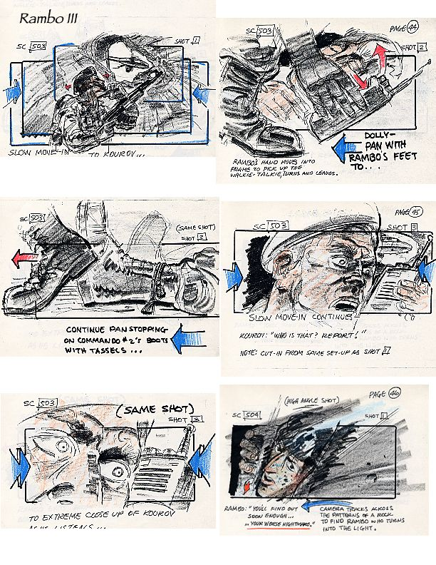 Movie Art, Storyboards, Rambo Iii | Movie | Pinterest | Storyboard