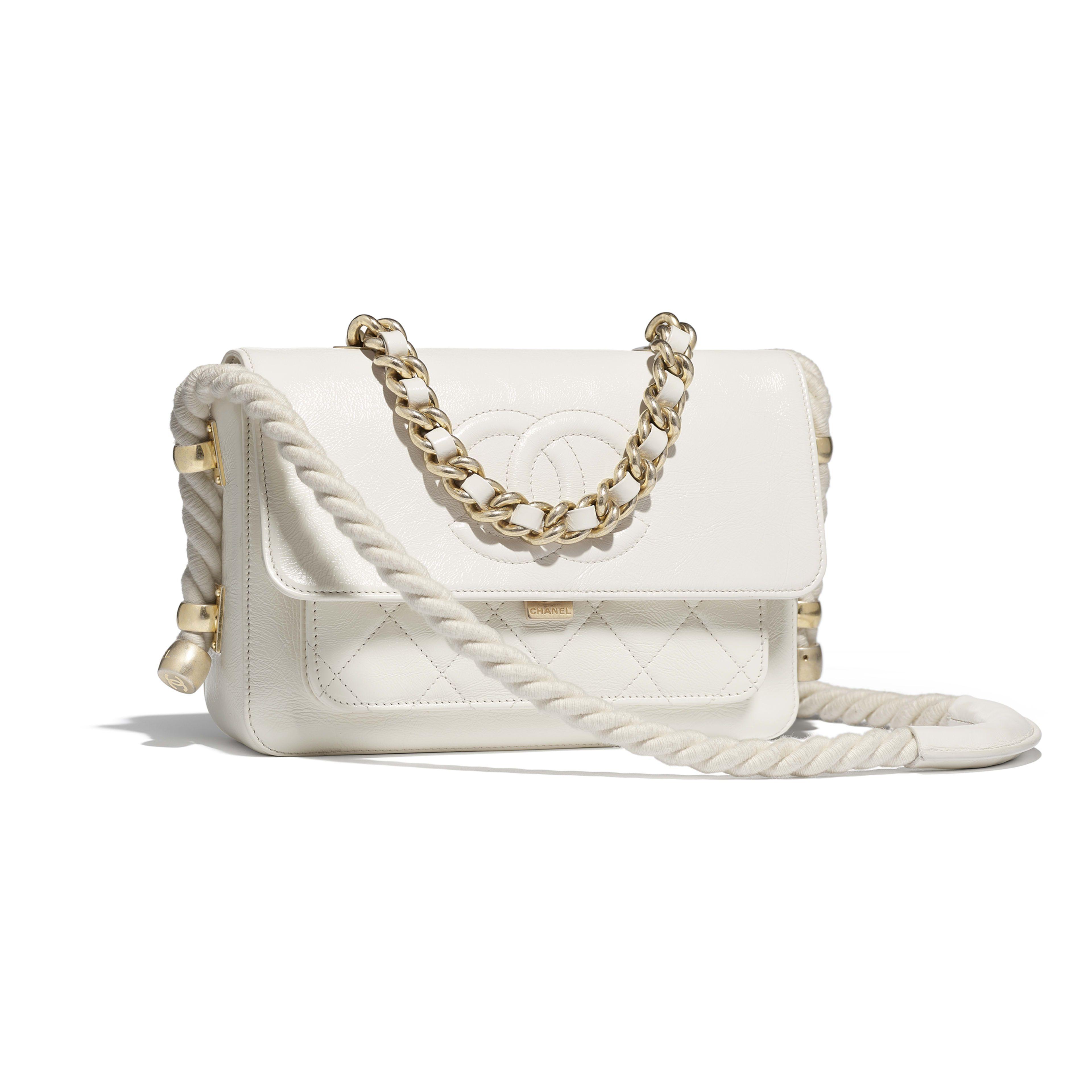 7fae6429da Flap Bag - White - Crumpled Calfskin