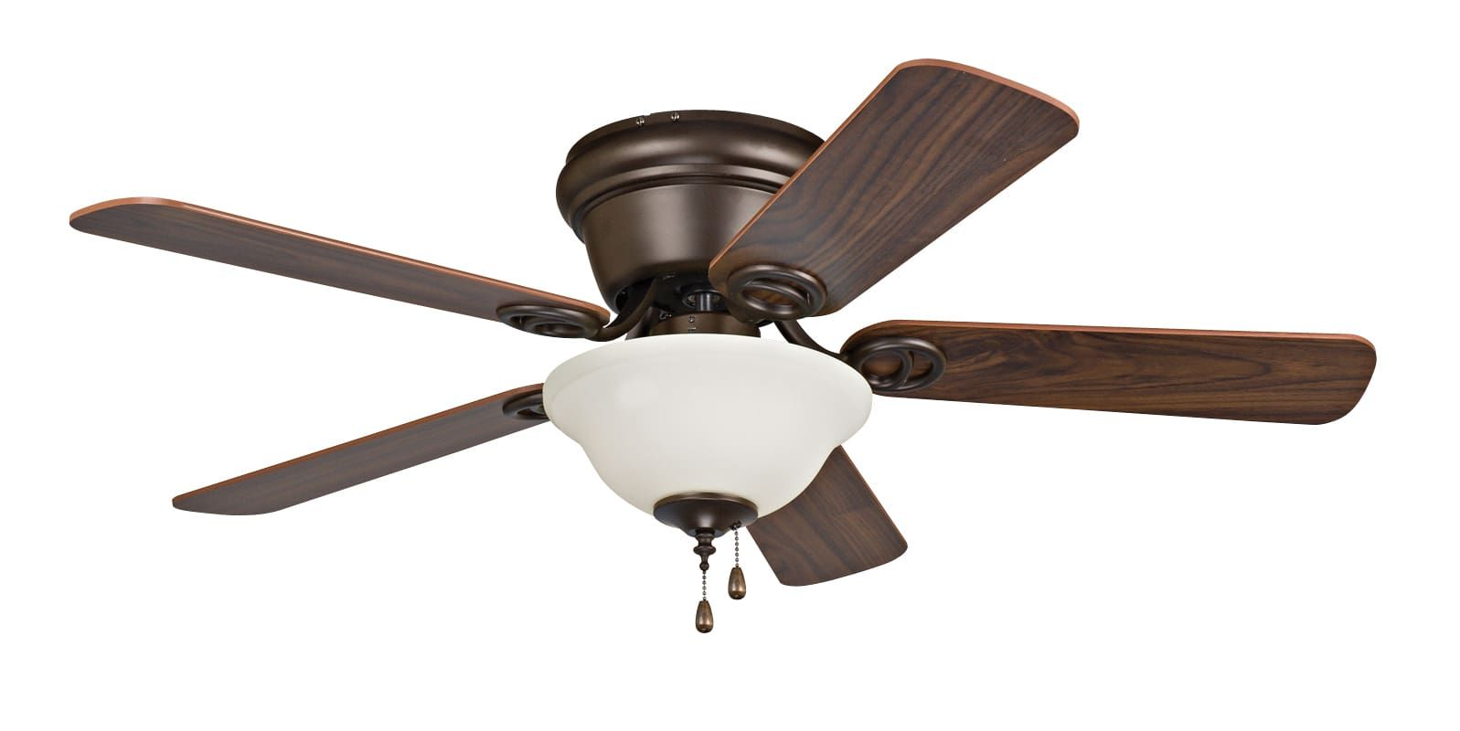 "Craftmade Wyman 42"" 5 Blade Indoor Hugger Ceiling Fan Oil Rubbed Bronze with Light Kit Fans Ceiling Fans Indoor Ceiling Fans"
