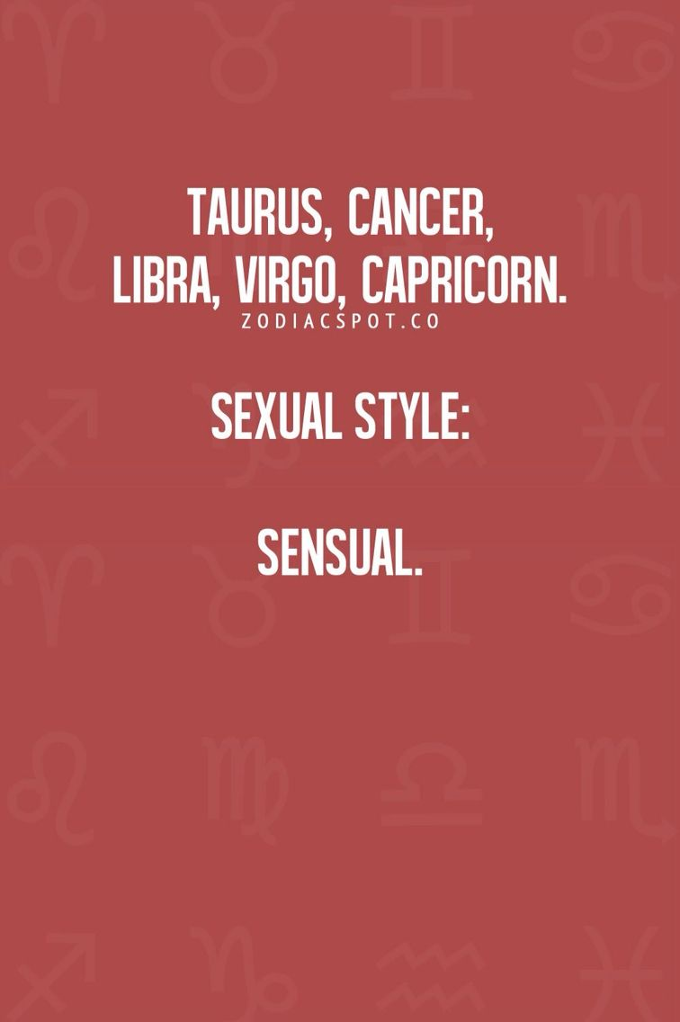 Capricorn traits sexuality