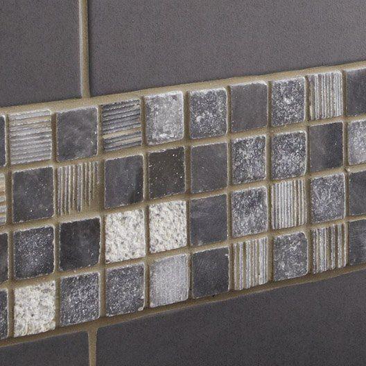 Mosaïque Line, noir, 23x23 cm Salle de bain Pinterest Ps, Vs
