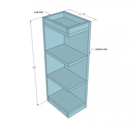 Open Shelf End Wall Cabinet Wall Cabinet Kitchen Cabinet Plans Open Shelving