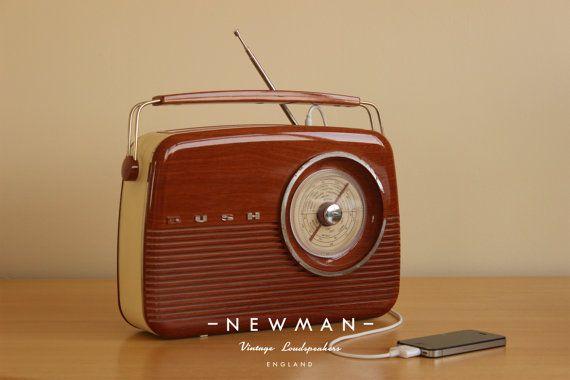 Retro Bush Radio converted to MP3/ Ipod Docking by NewmanRadios