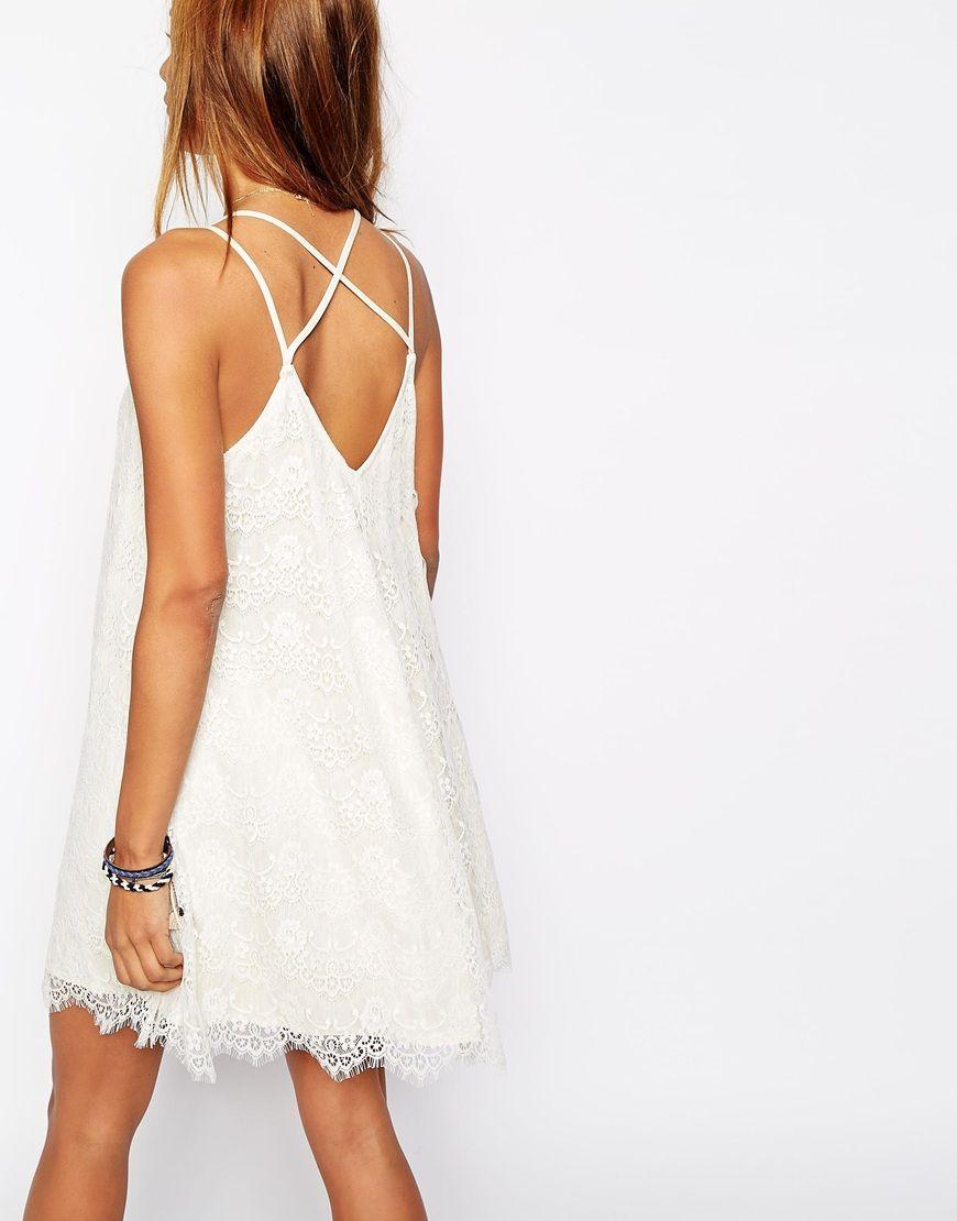 Robe blanche dentelle abercrombie