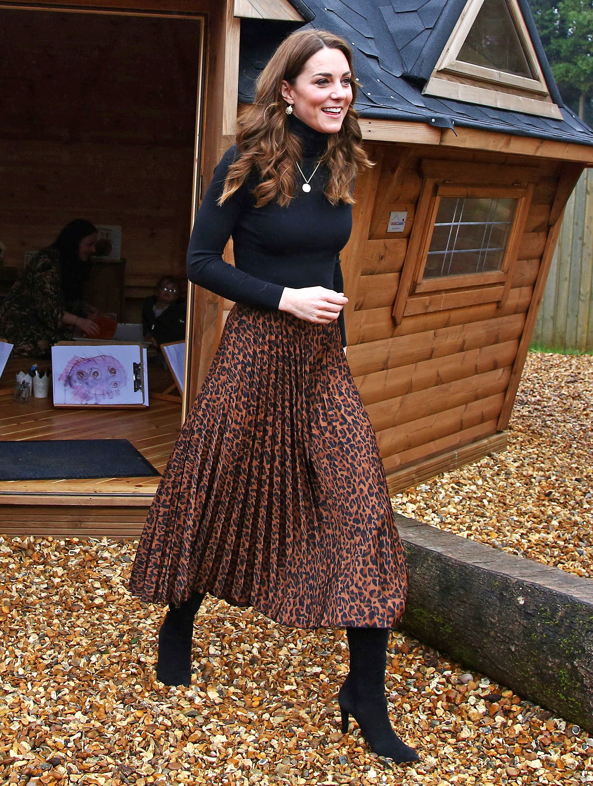 Kate Middleton Just Proved the Leopard Midi Skirt Trend Is Still Alive and Well