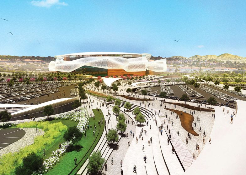 Populous reveals San Diego Chargers stadium design (With