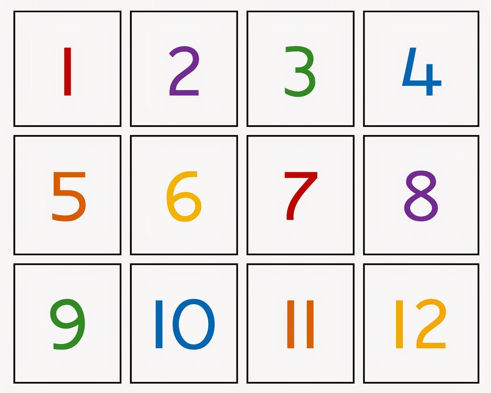 Pin De My Number En Preschool Learning