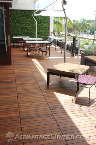 20 Timber Decking Designs That Can Append Beauty Of Your: Ipe Deck Tiles 20 X 20 - Anti-Slip