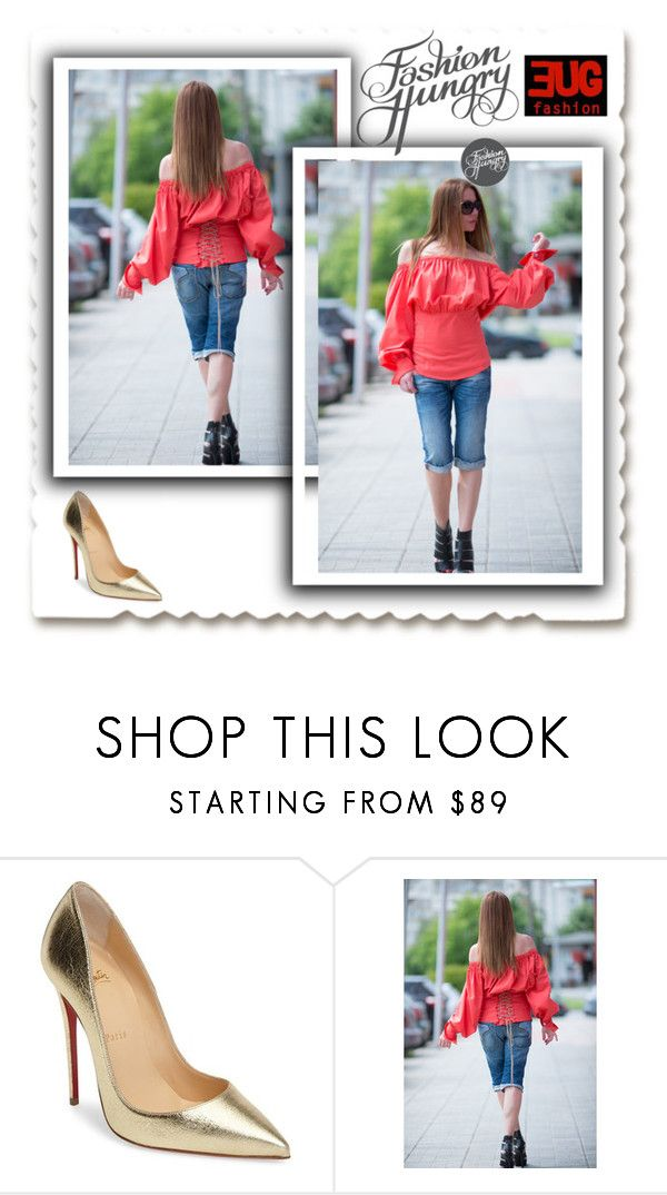 """""""Oversize Summer Top, Top by EUGfashion"""" by eug-fashion ❤ liked on Polyvore featuring Christian Louboutin and EUGfashion"""