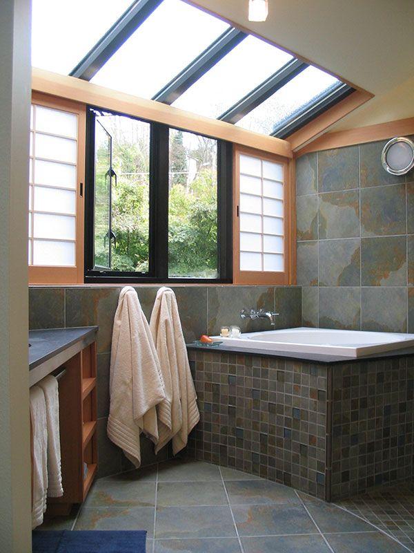 Custom Japanese Bath Remodel Seattle Sortun Vos Architects Shoji Unique Bathroom Remodel Seattle