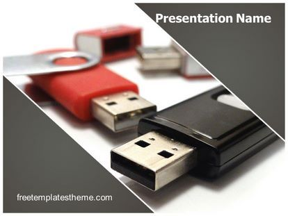 Download Free Flash Drive Powerpoint Template For Your