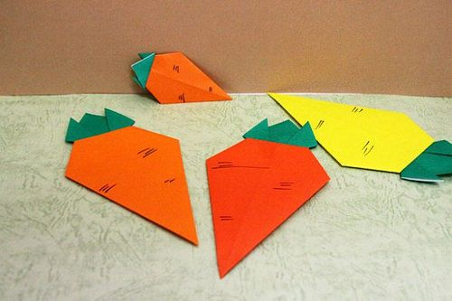 Carrot ニンジン origami carrot paper 折り紙 おりがみ