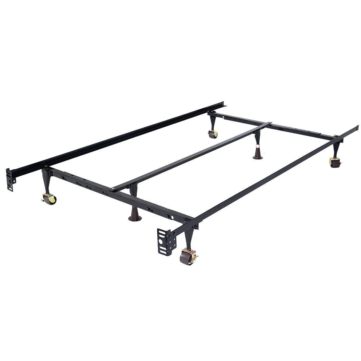 Best Size Adjustable Steel Bed Frame With Casters Metal Bed 640 x 480