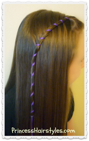 Candy Stripe Waterfall Braid Tutorial Princess Hairstyles How To