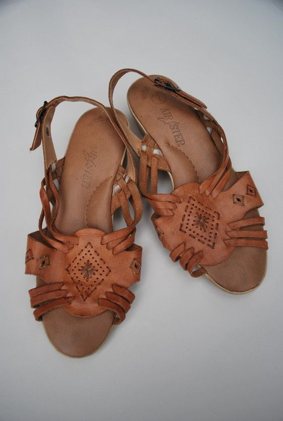 d05ec47b2281 Woven leather vintage granny sandals .huarache platform slingbacks ...