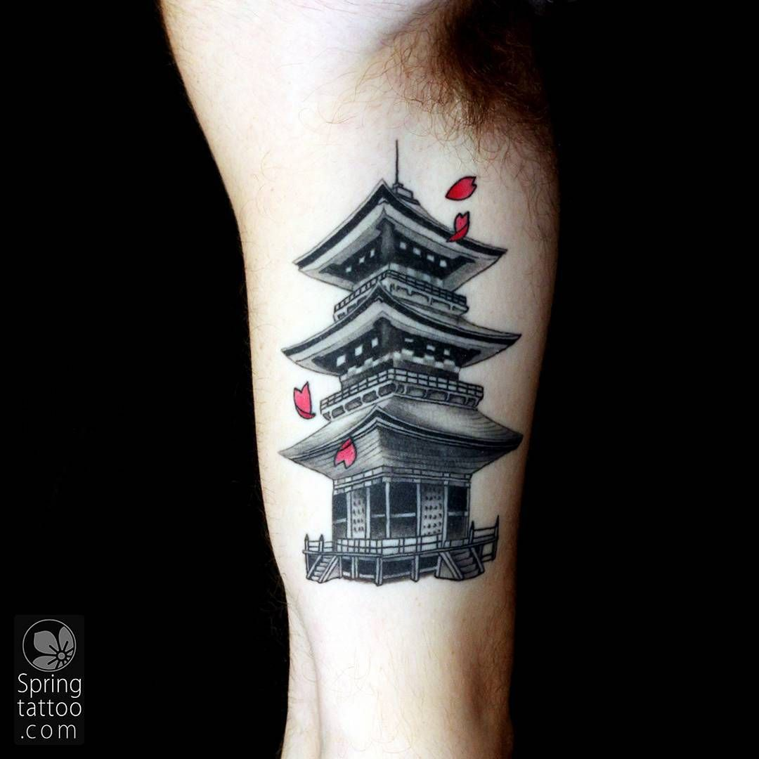#Japanese #pagoda #tattoo Posted at http://springtattoo ...