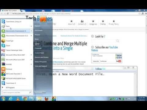 How To Combine And Merge Multiple Word Documents Into A Single Document Youtube Words New Words Multiple