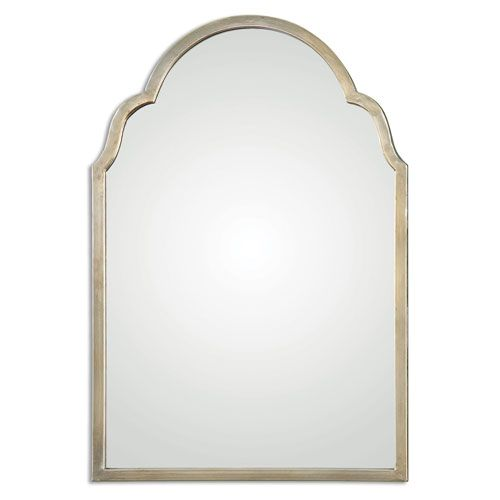 Master Bath Mirror Brayden Silver Arch Uttermost Arched Crowned Mirrors Home Decor