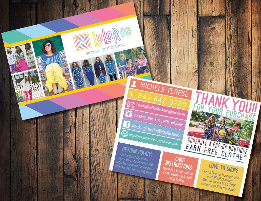 LulaRoe 4x6 blitz card, Lula Roe sales card, Lula Roe business card ...