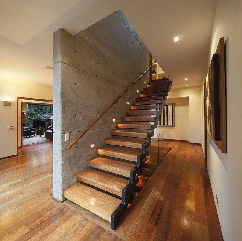 Escaliers en bois intérieur et extérieur\u2013idées sur les designs