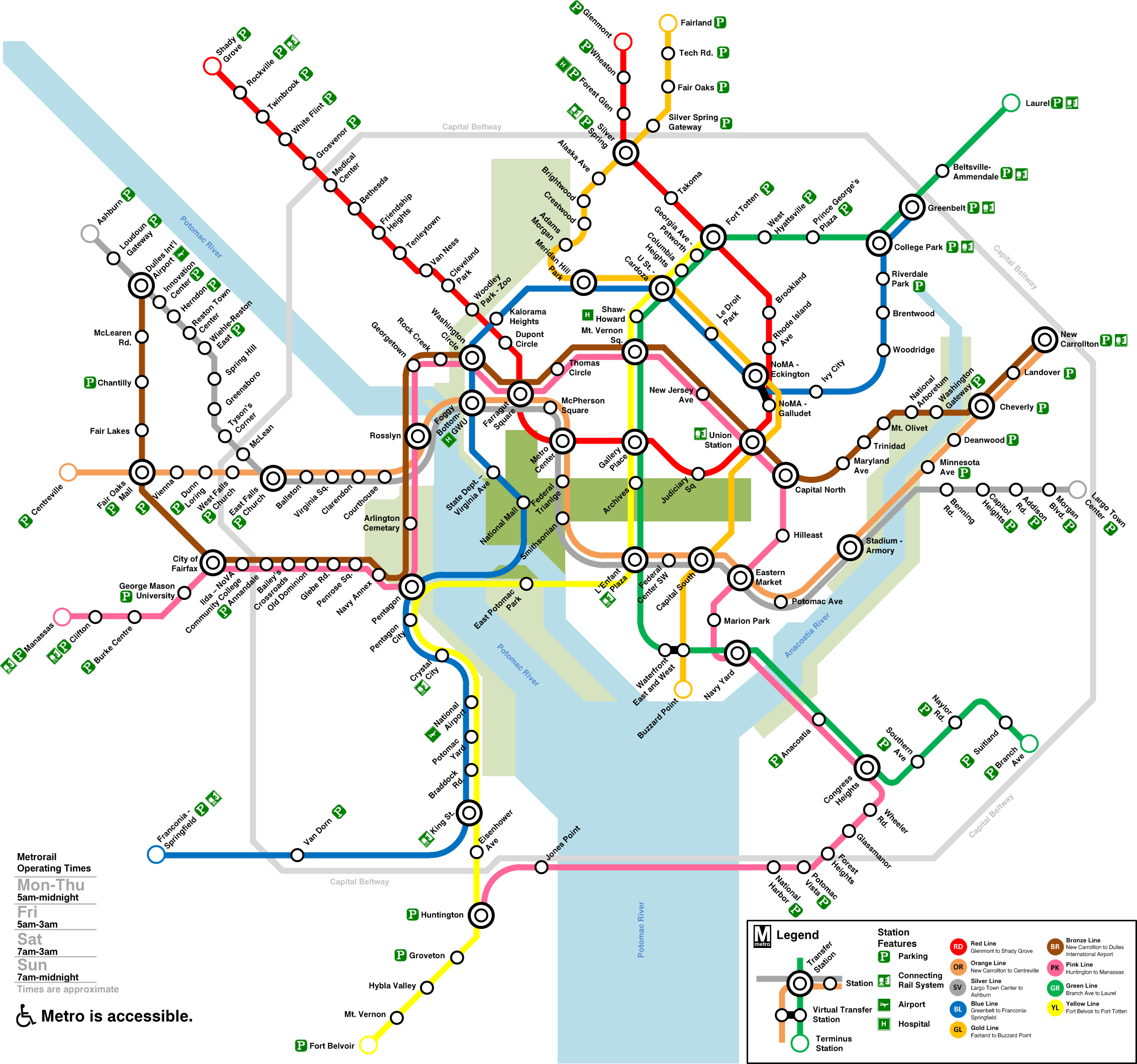 Dc Metro Subway Map DC Metro Dream Map | Washington metro, Dc metro map, Metro map