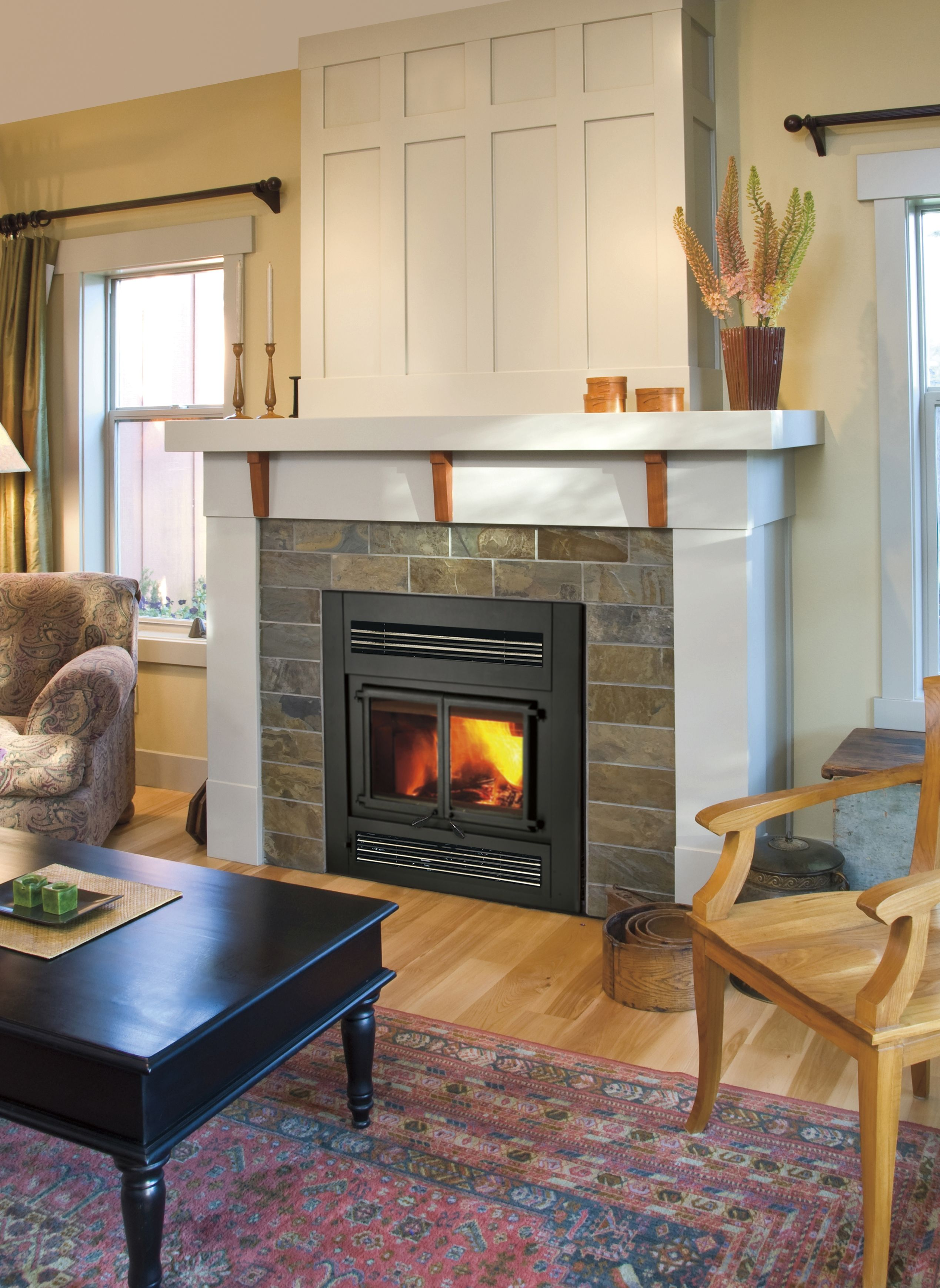 This is our Z42CD zero clearance wood burning fireplace For