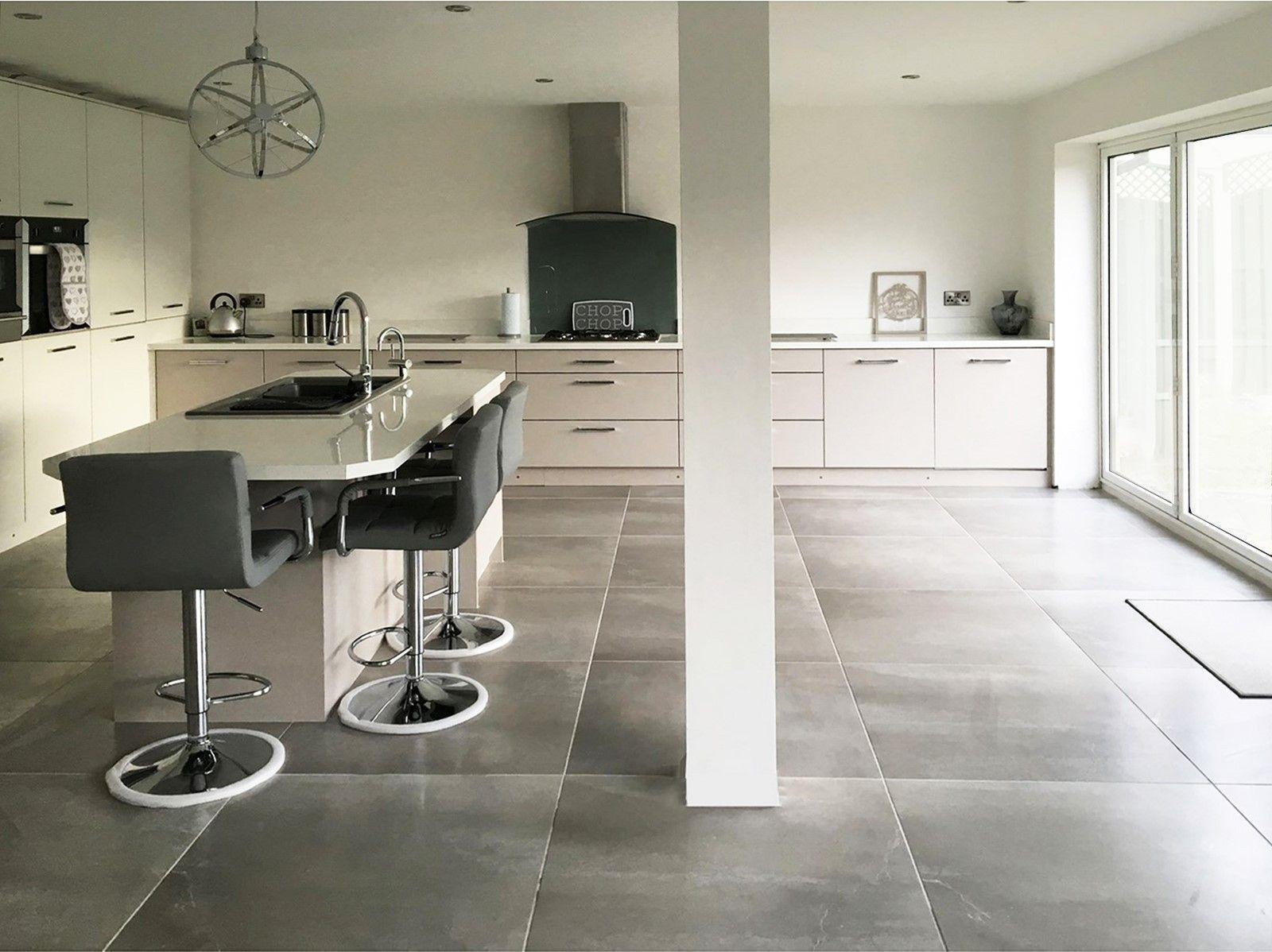 Concrete tile kitchen floor kitchen design ideas concept grey 60 x cm polished concrete floors are ideal for concrete tile kitchen dailygadgetfo Choice Image