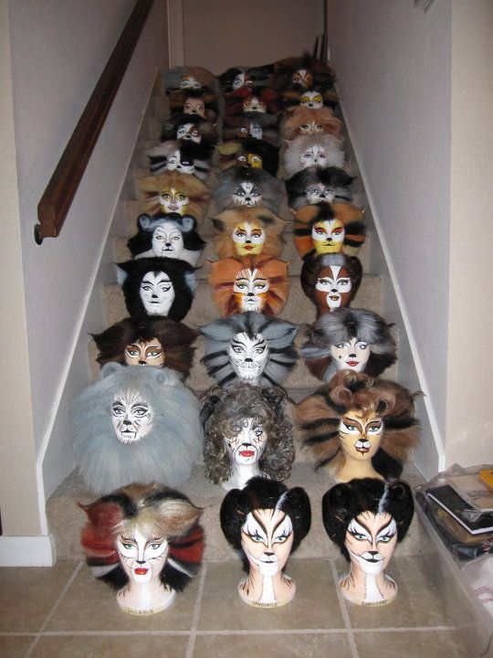 My Rental Wig Set For Cats The Musical Cats The Musical Costume Cats Musical Jellicle Cats