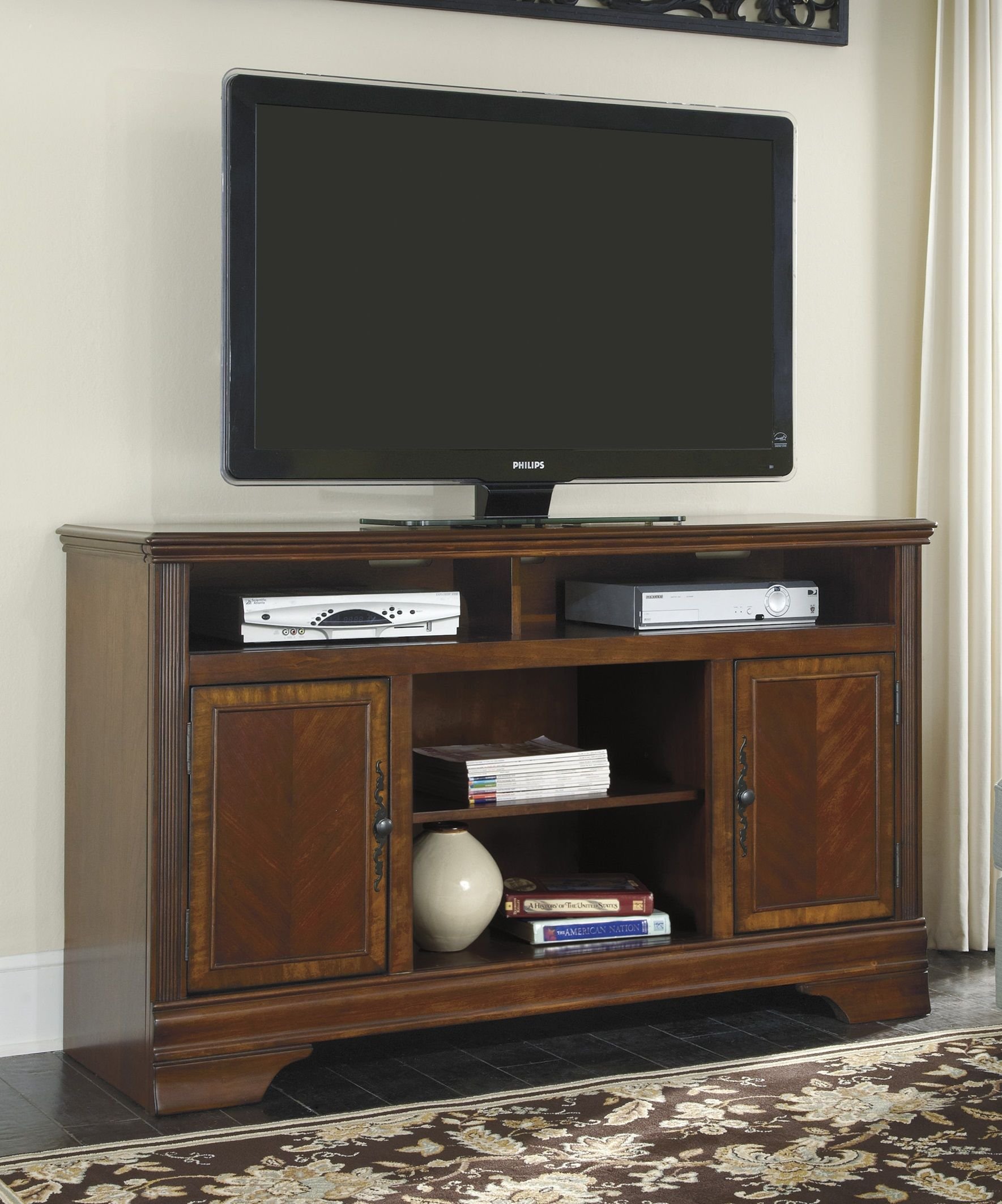 hamlyn 60 xtall tv stand w527 68 home entertainment from ashley rh pinterest com