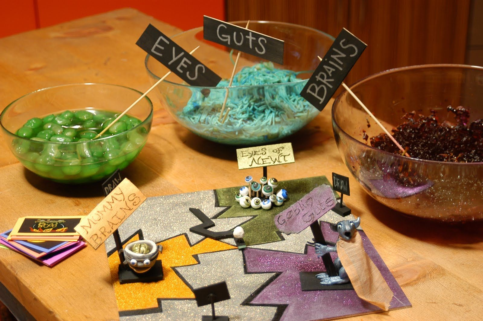 Diy Kids Halloween Games Guts And Goop With Jello And Dyed