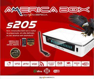 Lançamento América Box S205 Hd – Atualização Em Breve – Linux – IPTv.