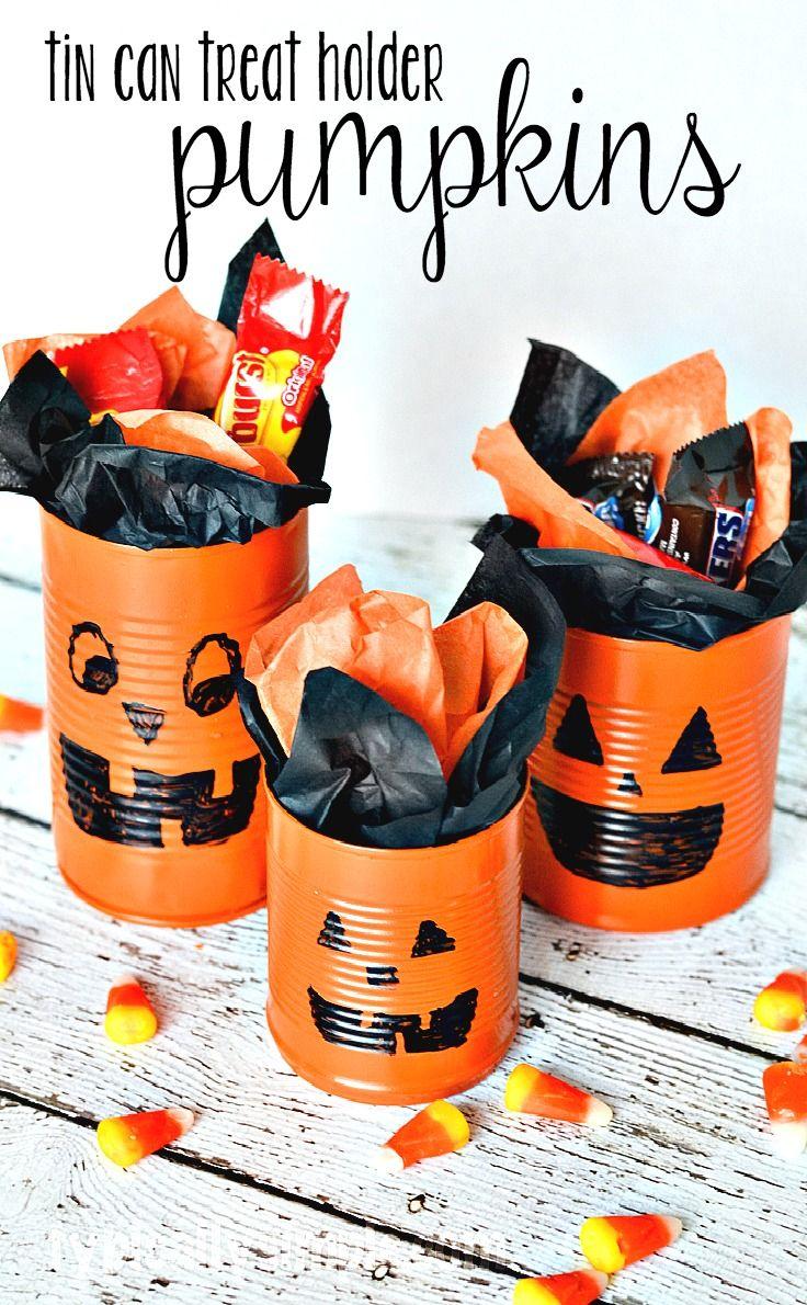 Tin Can Pumpkins Craft Tutorial: An Easy Halloween Idea