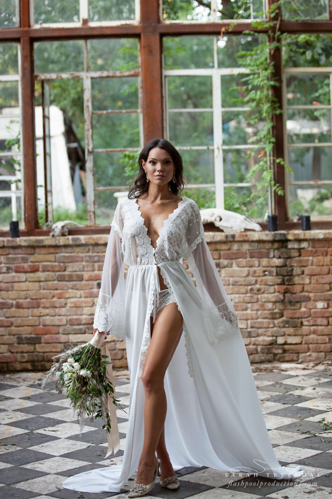 9c27f7dd2306f BRIDAL BOUDOIR ROBE wedding day gown, for photo shoot, off white bridal gown ,
