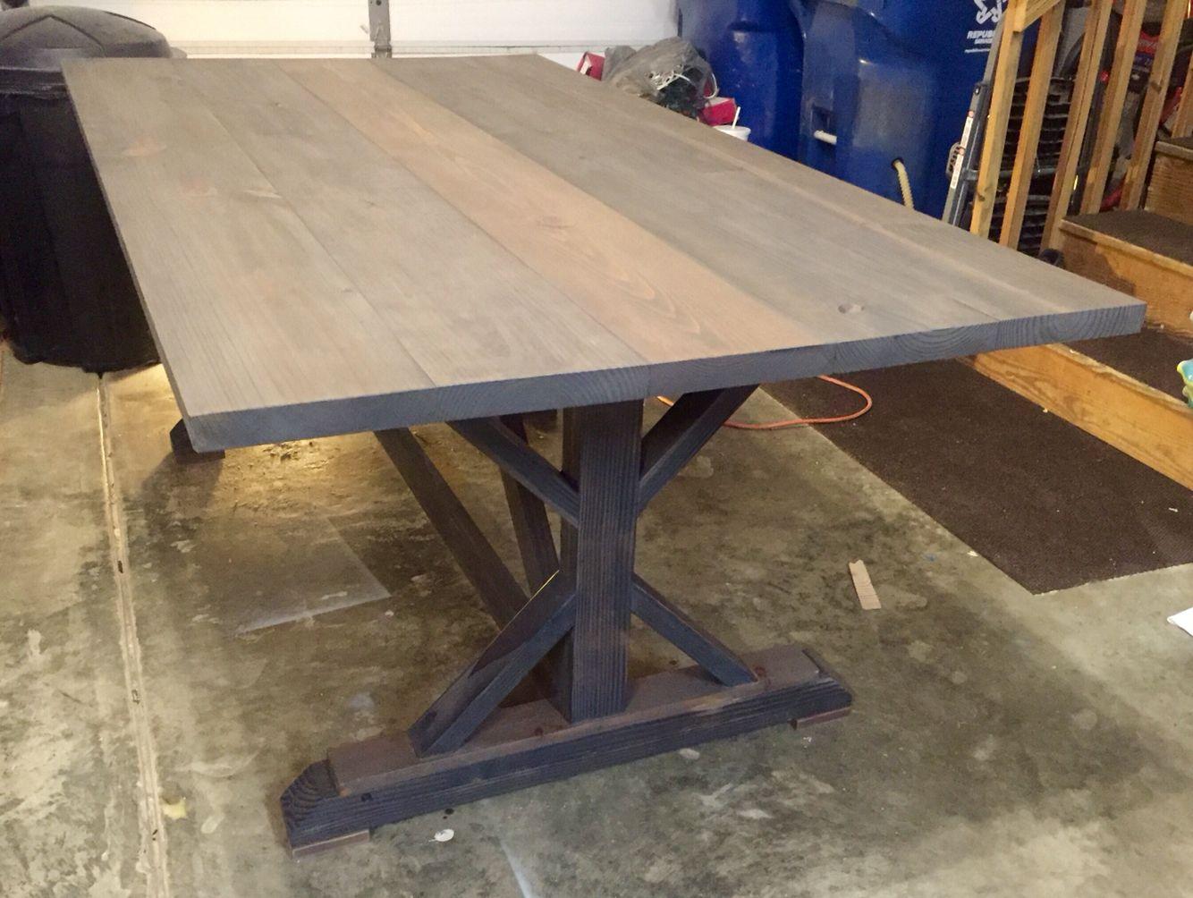 Farmhouse Table X Legs BTWoodCraft Dining table, Rustic