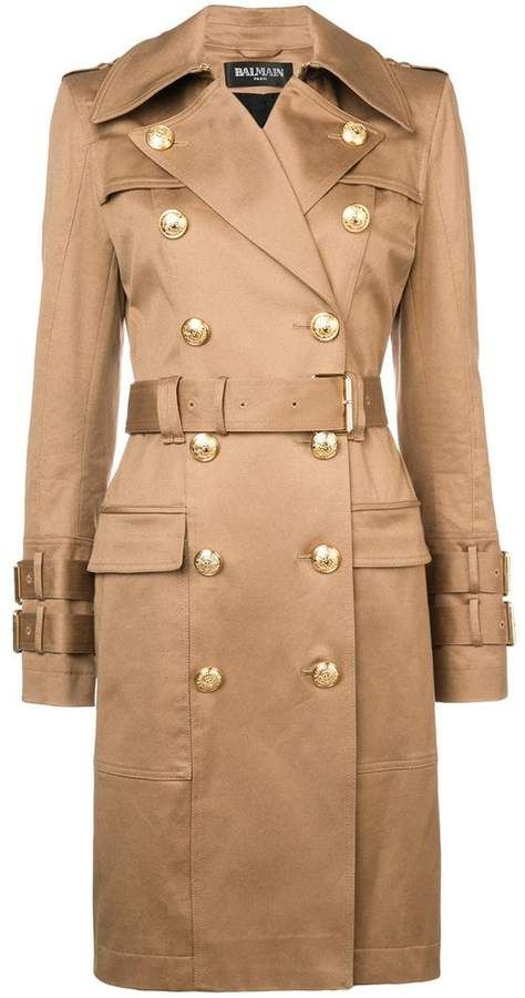 4f4b230fa Balmain double-breasted trench coat | Fashion - Part 3 in 2019 ...