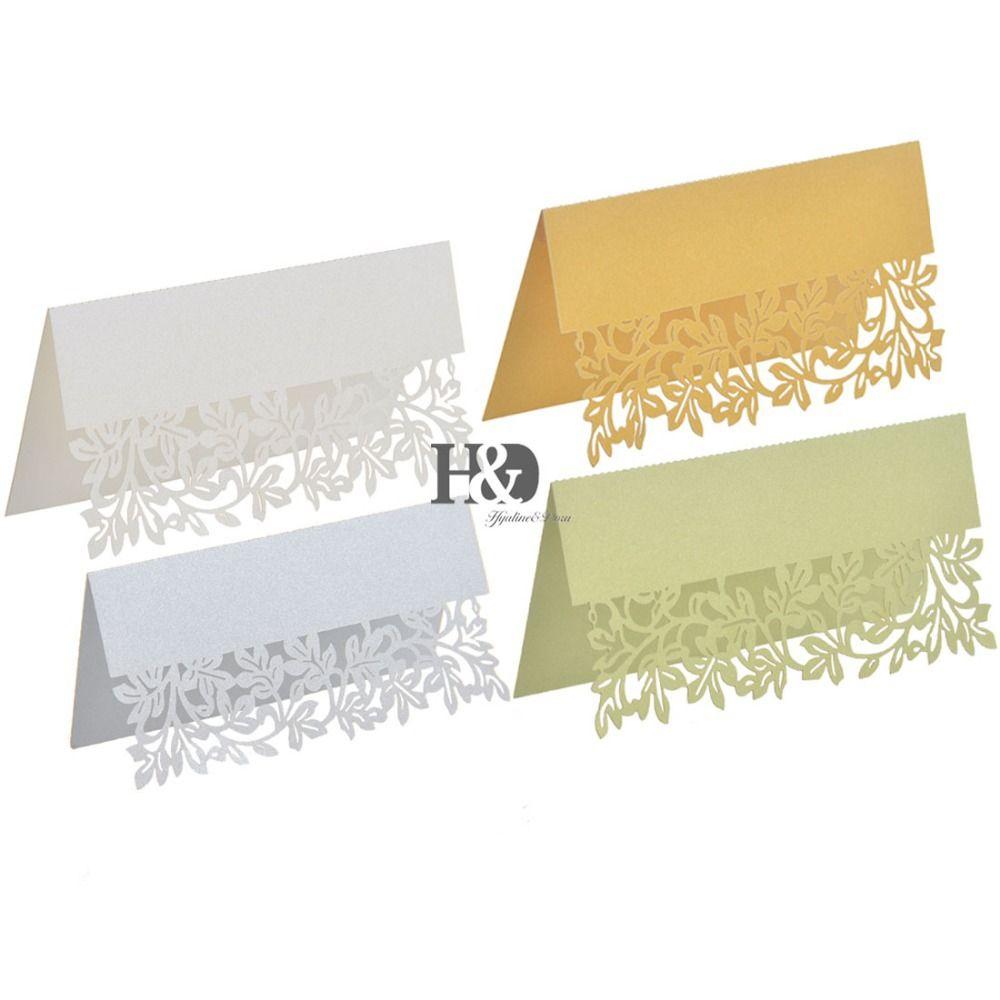 12PCS /lot Four colors for your Chose Laser Cut Paper Hollow Leaf ...