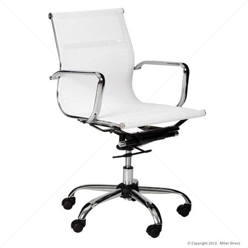designer mesh executive office chair low back white home office