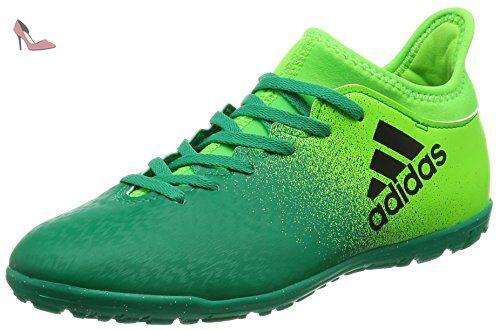 Adidas x 16.3 TF J – Chaussures montantes de fútbolpara enfants, vert –  (Versol