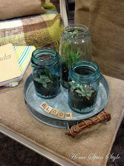 Mason Jar Terrariums Refreshing The Home Masonjars Terrariums