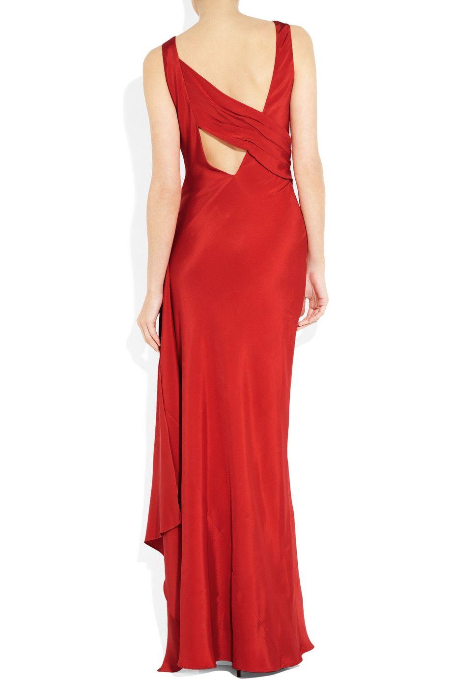 AMANDA WAKELEY  Draped silk gown - Back!