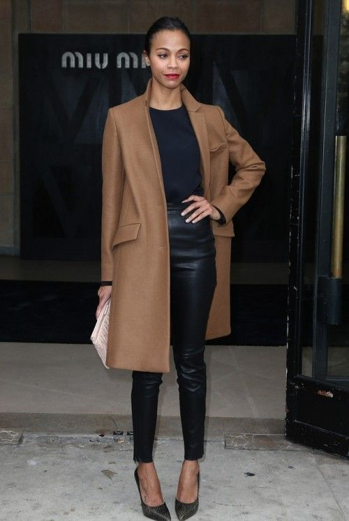 mmmm I like it, leather trousers and brown coat, fancy