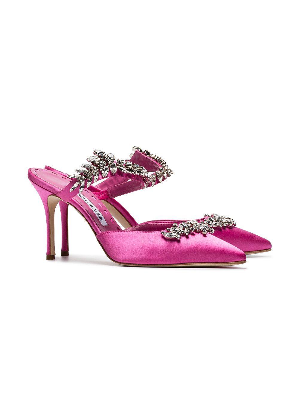 0e56bb3f2956 Manolo Blahnik Shoes · Pink Satin · Pink Shoes · https   www.farfetch.com in  shopping women