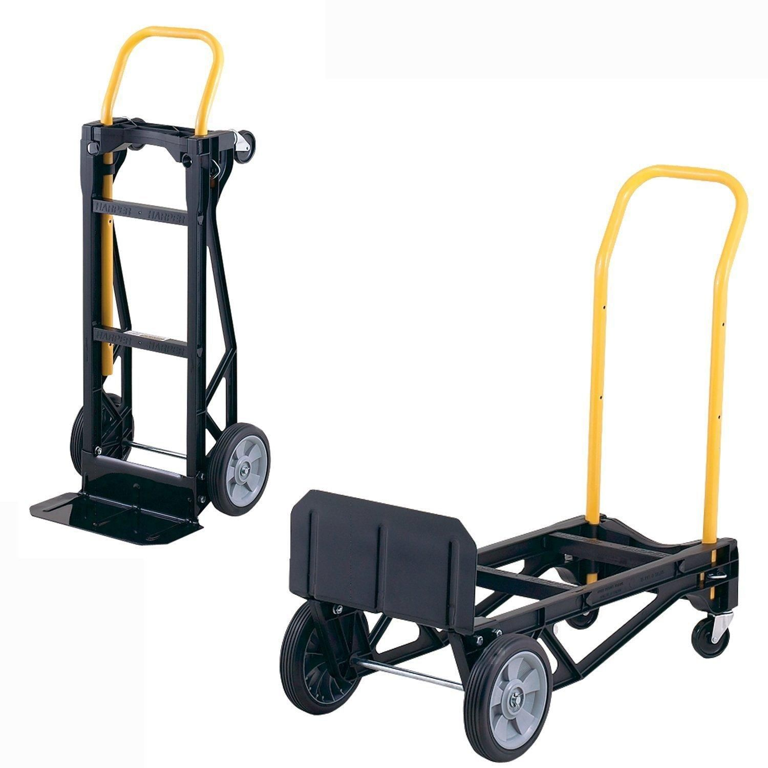 Cosco Shifter 300-Pound Capacity Multi-Position Folding Hand Truck and Cart Yellow