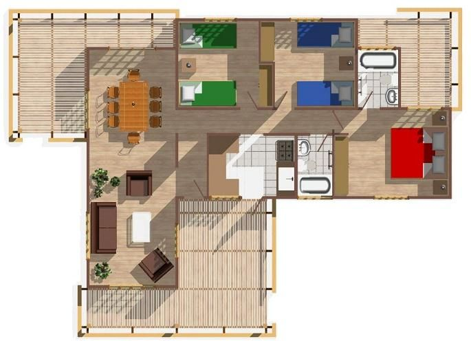 Casa de campo con terraza buscar con google casa de - Casas con terrazas ...